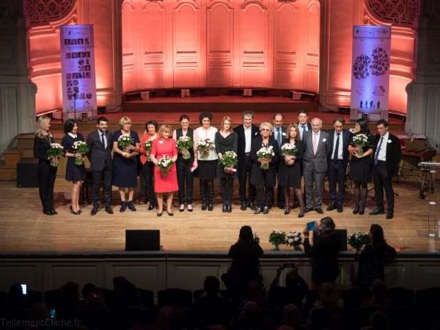 Gala annuel de la Fondation du Rein 2017. Photo de groupe.
